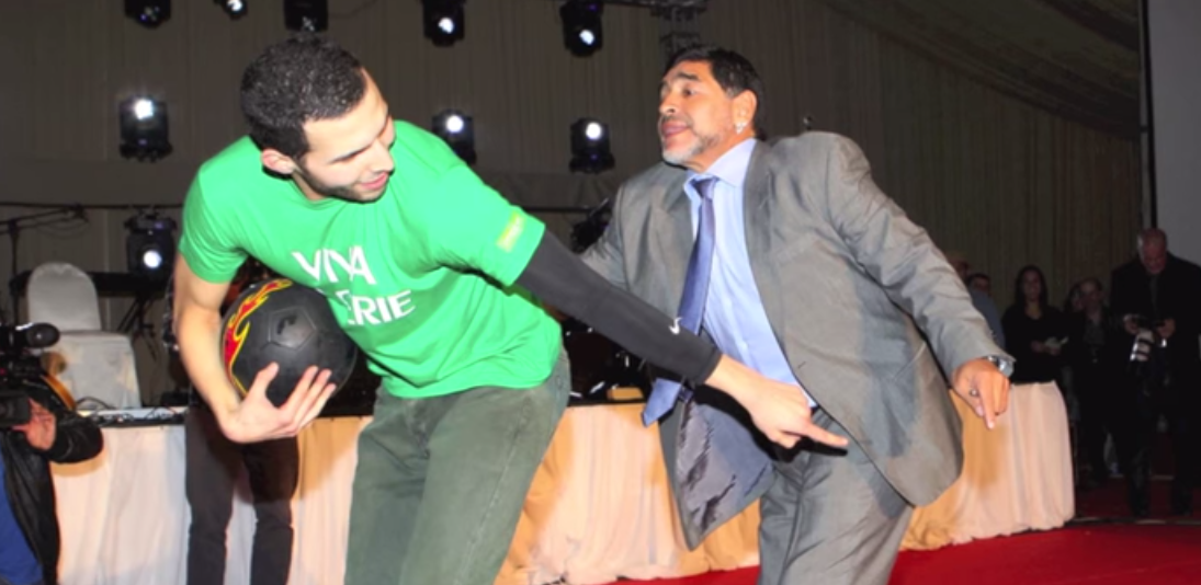 Maradona y Wassim Benslimane